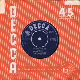 Brian Poole and The Tremeloes - Do You Love Me - Decca F.11739- 7-inch Vinyl Record