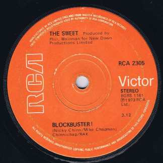 The Sweet – Blockbuster ! - RCA 2305 - 7-inch Vinyl Record