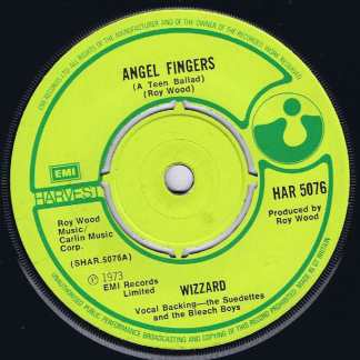 Wizzard – Angel Fingers (A Teen Ballad) - HAR 5076 - 7-inch Vinyl Record