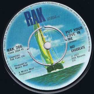 Hot Chocolate – Put Your Love In Me - RAK 266 - 7-inch Record