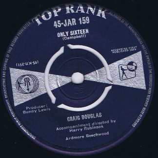Craig Douglas - Only Sixteen - 45-JAR 159 - 7-inch Record
