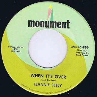Jeannie Seely – When It's Over - MN 45-999 - 7-inch Vinyl Record