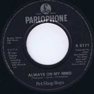 Pet Shop - Always On My Mind - R6171 - 7-inch Record