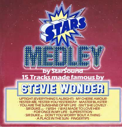 Star Sound – Stars On Stevie - CBS A 13 2041 - 12-inch Vinyl Record