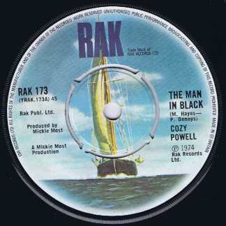 Cozy Powell – The Man In Black - RAK 173 – 7-inch Vinyl Record