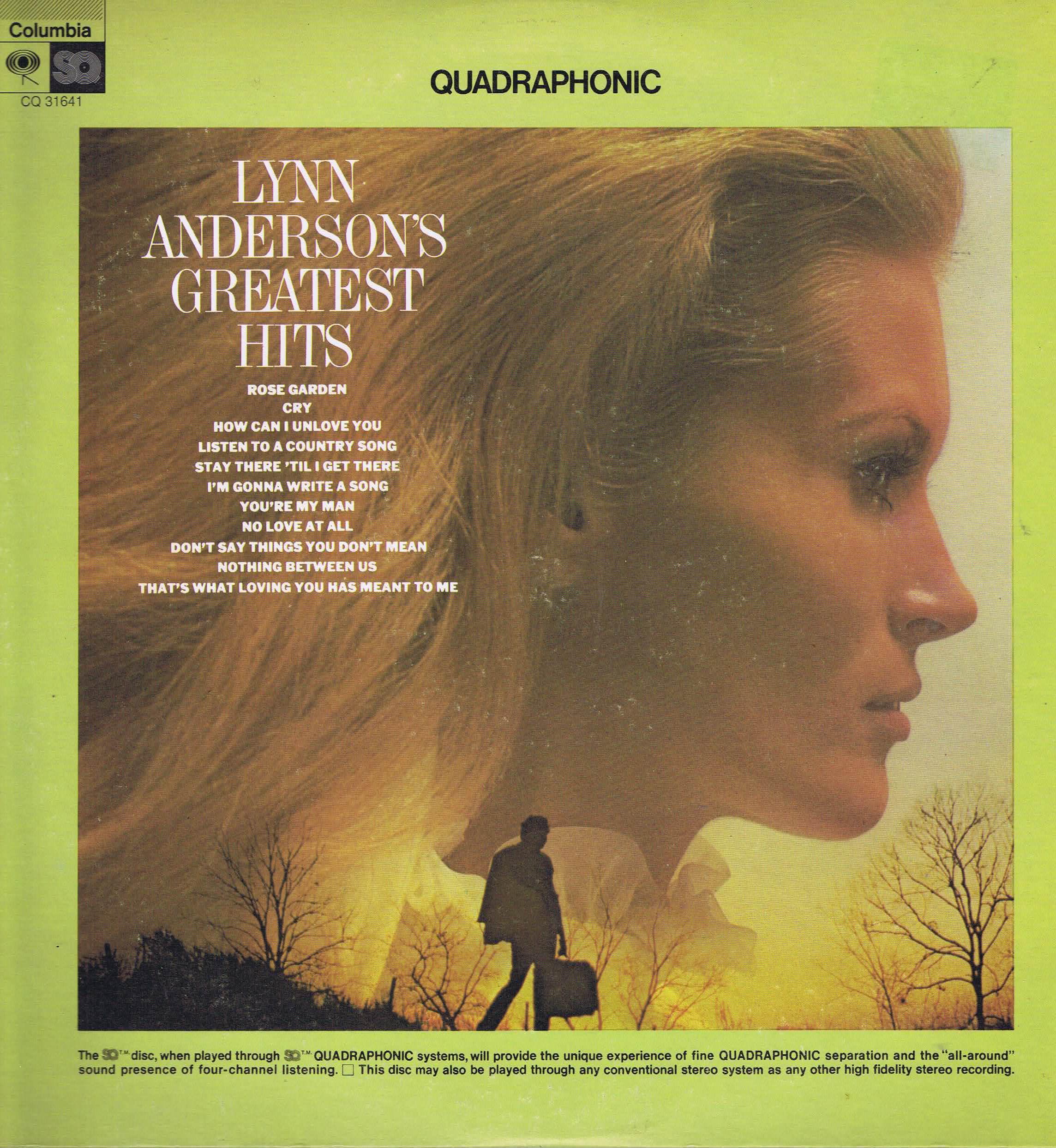 Lynn Anderson\'s Greatest Hits - CQ 31641 - Quadraphonic LP Vinyl ...