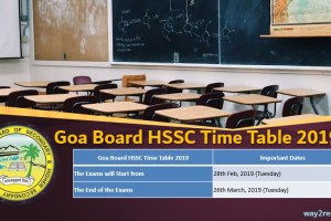 Goa Board HSSC Time Table 2019