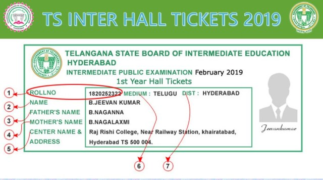 TS Inter 1st & 2nd Year Hall Tickets 2019