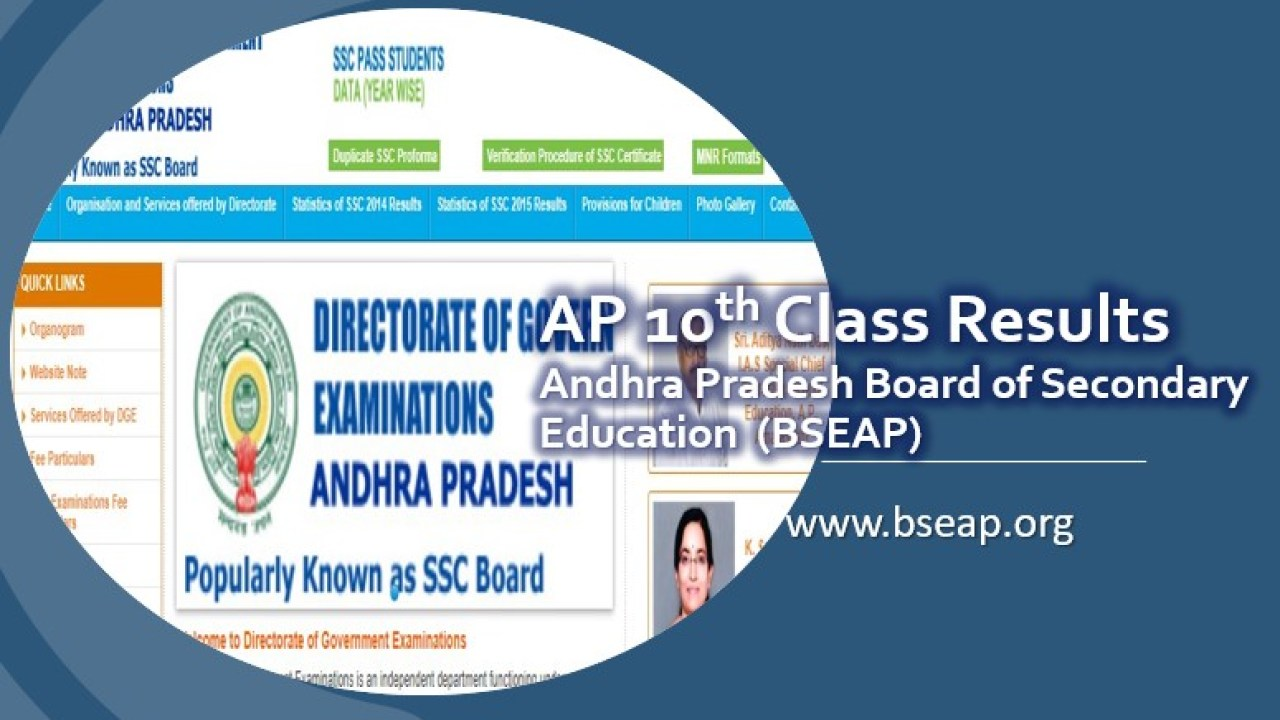 Check AP 10th Class Results 2019 at Manabadi and bseap org