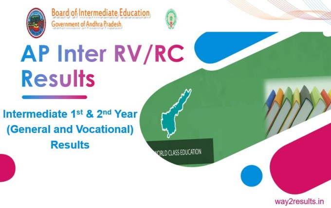 AP Inter Revaluation Results For 1st & 2nd Year Intermediate