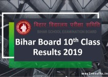 Bihar Board 10th Result 2019 Date