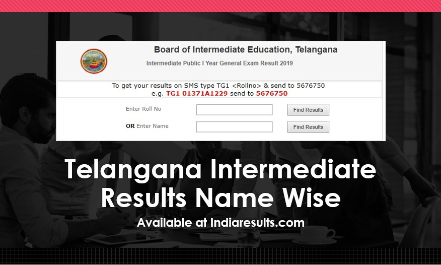 Telangana Intermediate Results Name Wise - 1st & 2nd Year