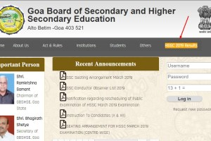 Goa Board 12th Result 2019 - GBHSE HSSC Result 2019 Available Here