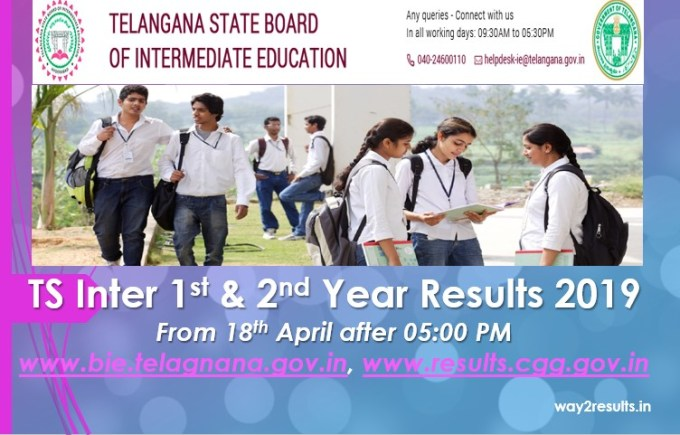 TS Inter Results 2019 - 1st & 2nd Year