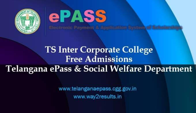 TS Inter Corporate College Admission Notification