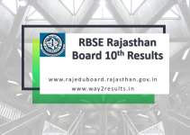 RBSE Rajasthan Board 10th Results