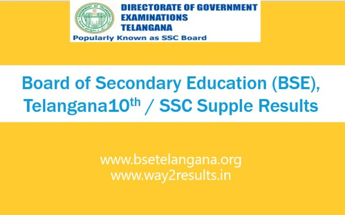 TS 10th Supplementary Results at bsetelangana.org