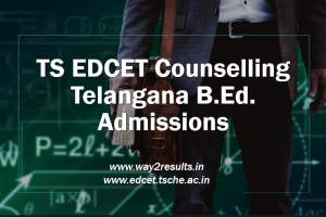 TS EDCET Counselling - Certificate Verification Dates