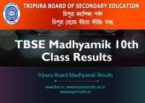 Tripura Board TBSE Madhyamik 10th Class Results
