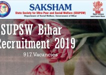 SSUPSW Bihar Recruitment 2019 - 917 Vacancy