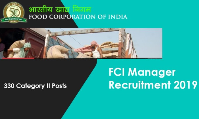 FCI 330 Category 2 Manager Vacancies 2019