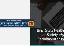 Bihar State Health Society 265 Recruitment 2019