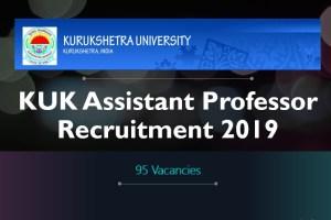 KUK Assistant Professor 95 Posts Recruitment 2019