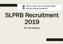 SLPRB 597 Sub Inspector Recruitment 2019