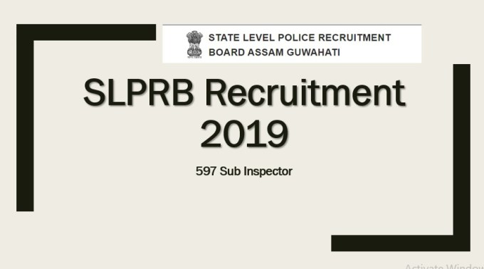 SLPRB 597 Sub Inspector Recruitment 2019