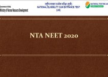 NTA NEET UG 2020 Notification