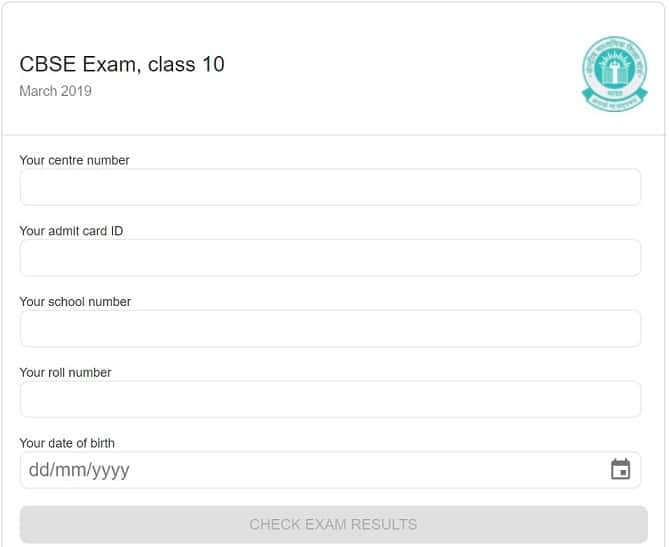 CBSE 10th Result On Google Search