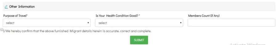 AP Covid-19 ePass Application Purpose