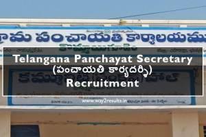 TS Panchayat Secretary Jobs Notification