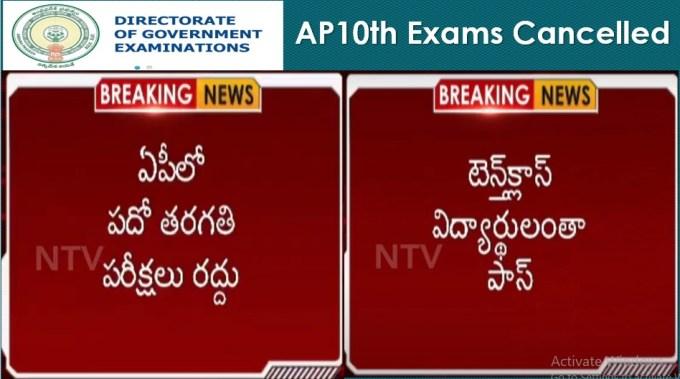 AP 10th Exams 2020 Cancelled