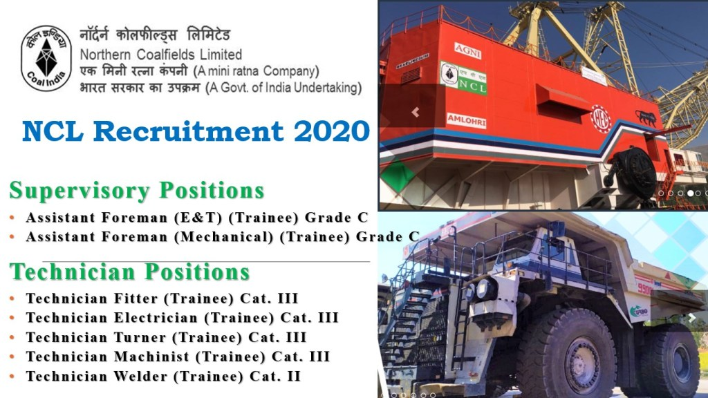 NCL Supervisor & Technician Recruitment 2020