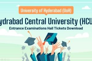 HCU Entrance Hall Ticket Download
