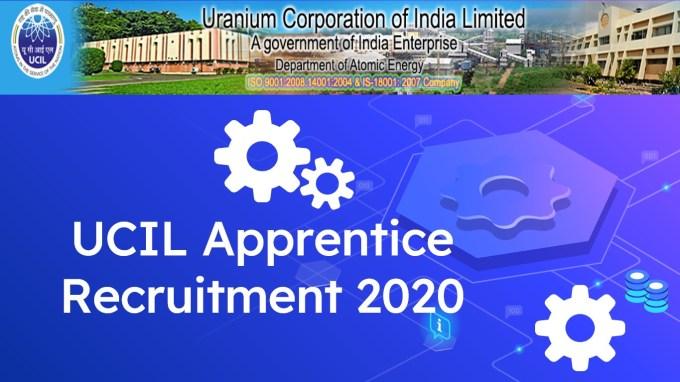 UCIL Jaduguda Apprentice Recruitment 2020