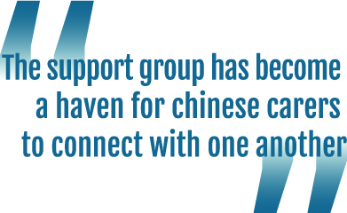 """""""The support group has become a haven for chinese carers to connect with one another"""""""