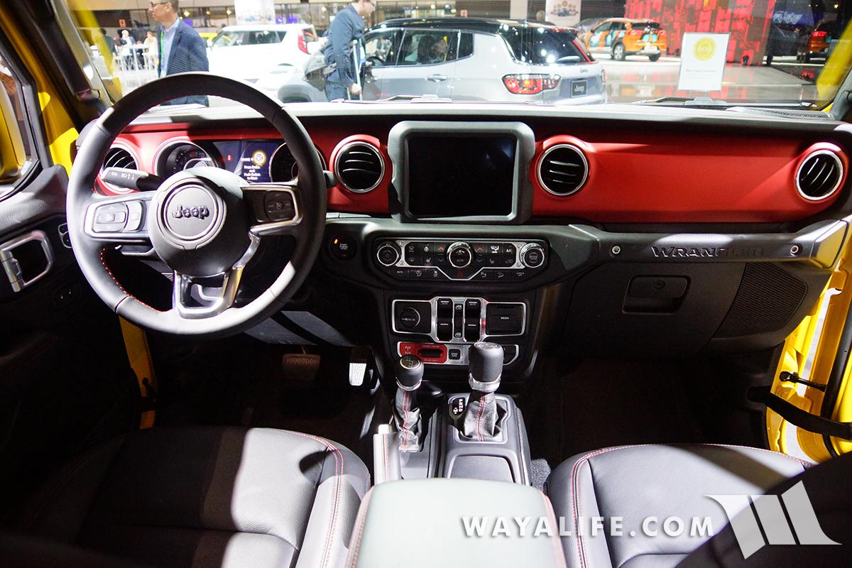 2017 LA AUTO SHOW Yellow Jeep JL Wrangler Rubicon