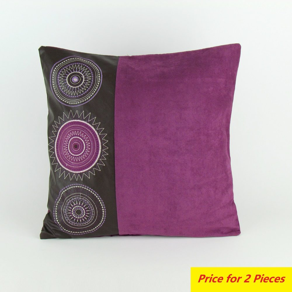 medallions decorative pillow purple