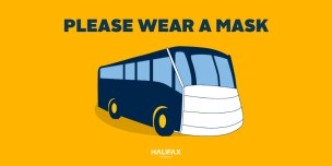 Bus with a Mask