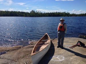 Richard Beasley about to take Waye out for a paddle in Blue Mountain Birch Cove