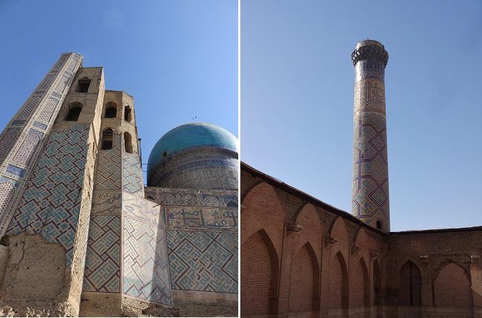 サマルカンドのビビハニム・モスクとミナレット