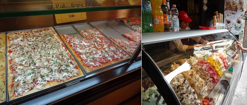 イタリア・フィレンツェの食べ歩き用ピザ屋さん