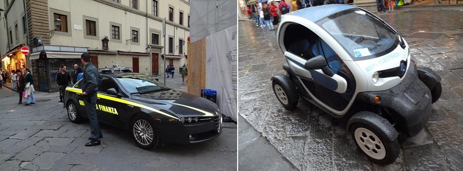 イタリア・フィレンツェで見た車