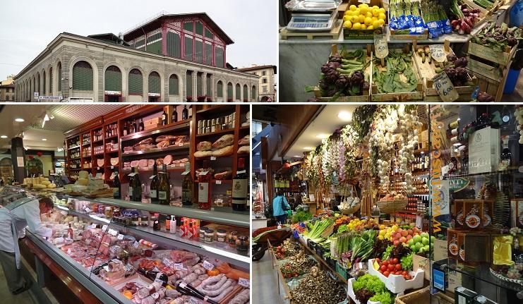 イタリア・フィレンツェの中央市場