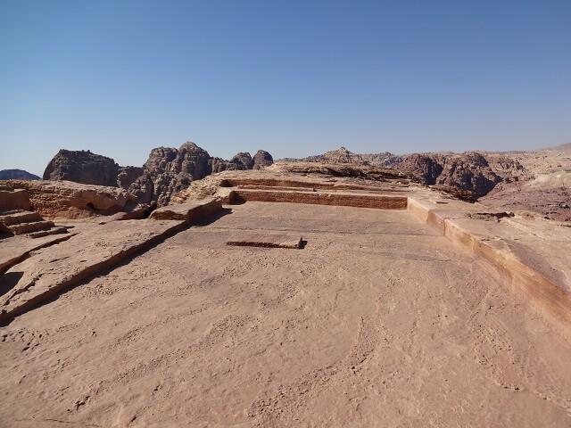 ヨルダン・ペトラ遺跡の犠牲祭壇