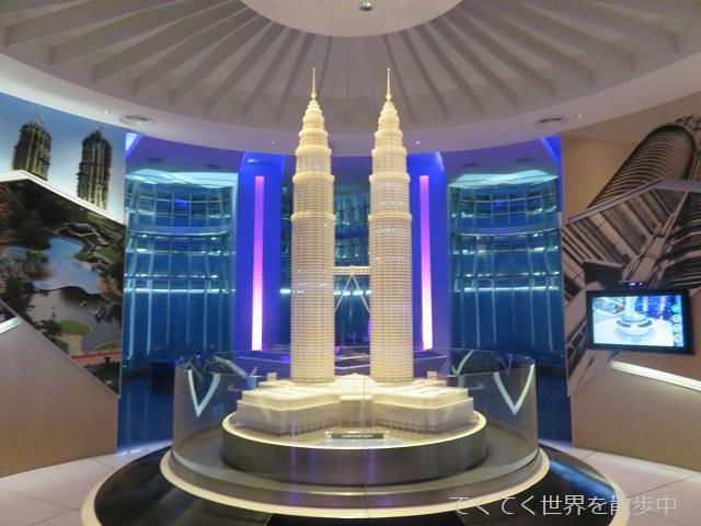マレーシア・クアラルンプール・ペトロナスツインタワーの展望台