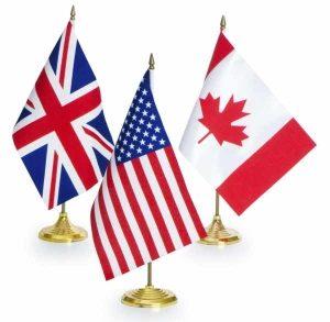 UK-USA-Canada Flags