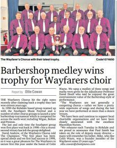 Wayfarers Chorus Win Trophy